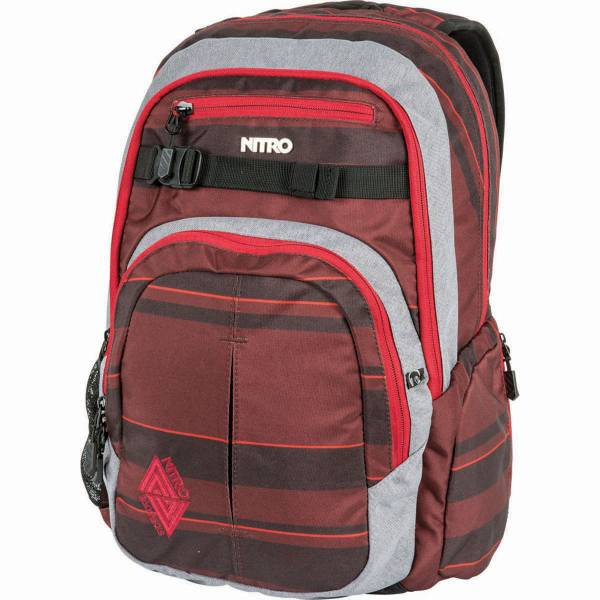 Nitro Chase 35L Rucksack Red Stripes