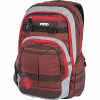 Nitro Chase Rucksack Red Stripes 35 L
