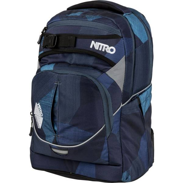 Nitro Superhero Rucksack Fragments Blue 30L