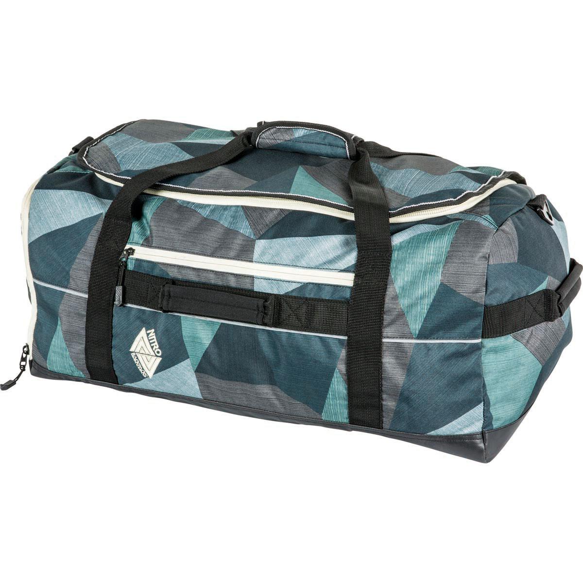 Wheelie bags for school - Nitro Team Duffle Sporttasche Fragments Green 53 L Nitrobags Shop