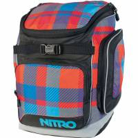 Nitro Bandit Schulrucksack Plaid Red Blue 37 L