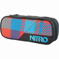 Nitro Pencil Case Mäppchen Plaid Red Blue